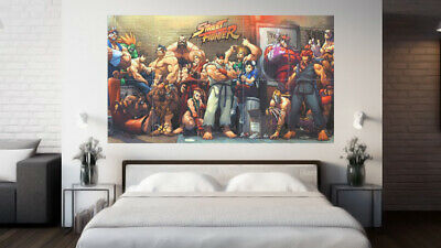 """Street Fighter Characters Poster - Wall Art - HUGE 58.5 x 33"""" Capcom Xbox"""