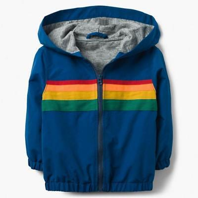 GYMBOREE FIELD EXPEDITION NAVY STRIPE HOODED HENLEY TOP 12 18 4T NWT