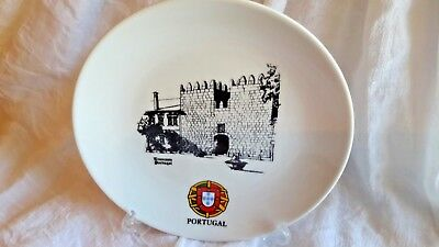 """Trancoso Portugal Souvenir Plate H2504 The Best Design 6"""" With Flag Of Portugal"""