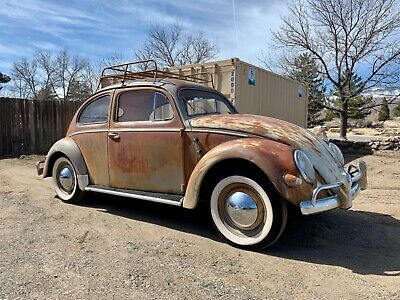 1957 Volkswagen Beetle - Classic  Old Original Patina Barn Find 1957 Volkswagen VW Oval Window Bug, New Interior!