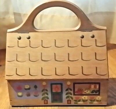 Vintage Wood Storage House Collector's Item Made In Japan