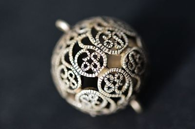 Collection Tibetan Silver Hollow Out Perfume Bag Ornaments Pendant   H52