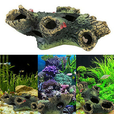 Aquarium 12cm arbre log cacher grotte poissons réservoir décor HQ