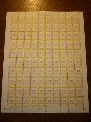 Feuille Complete 100 Timbres Fictifs N°241 Neufs**. Cote 250 Euros