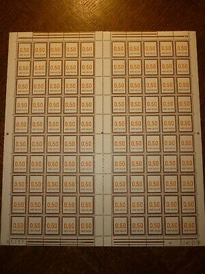 Feuille Complete 100 Timbres N°210 Neufs**. Cote 100 Euros