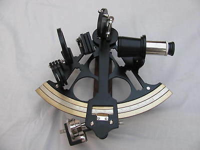 "8"" Vintage Marine Brass Black Coating Powder Sextant Working Astrolabe Ship ."