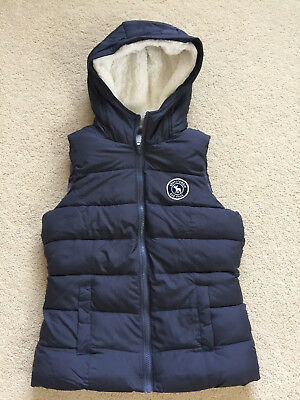 NWT Abercrombie & Fitch Kids Girls Sherpa-lined Puffer Vest Grey Size X-Large