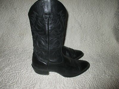 298e4f41708 ARIAT BLACK LEATHER Cowboy Western Boots Mens Size 10 D Style 34770 ...