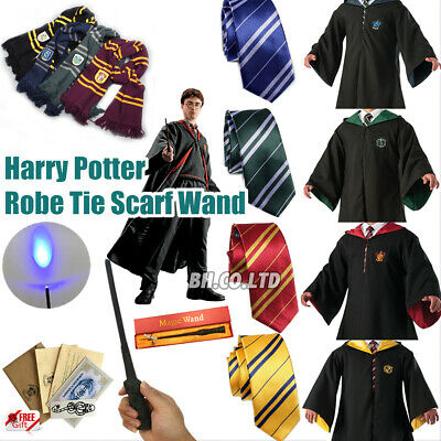 Harry Potter adulte enfants Robe Cape Costume Chapeau Cravate écharpe cosplay