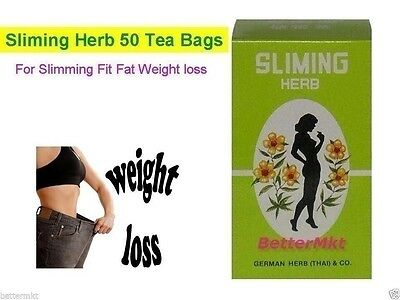 SLIMING German Herb 50 Tea Bags Slimming Fit Fat Weight Belly Loss Laxative Tea