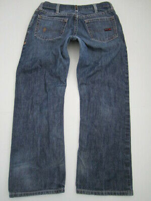 MENS 34X30 ARIAT FR Flame Resistant Shale M4 Low Rise Boot jeans
