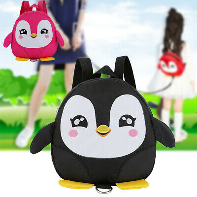 Baby Kids Children Penguin Safety Harness Strap Bag Cartoon Backpack with Reins