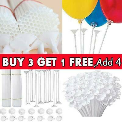 100 Party Festival Wedding Appliance Plastic Balloon Holder Sticks and Cups CB
