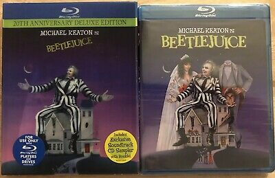 New Beetlejuice 20Th Anniversary Blu Ray With Rare Oop Lenticular Slipcover