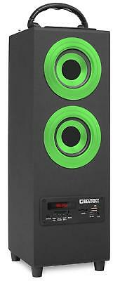 Portable Boombox Radio Audio Speaker Subwoofer Bluetooth Box USB Mp3 SD Green