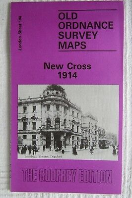 Old Ordnance Survey  Map New Cross 1914