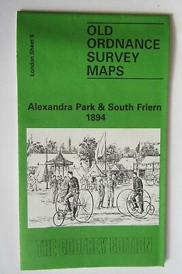 Old Ordnance Survey Map Alexandra Park & South Friern 1894