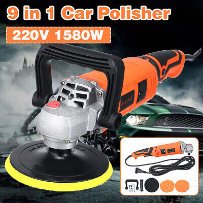 9 in 1 220V 1580W Electric Car Polisher Buffer Waxer Machine 7 Variable SPEED