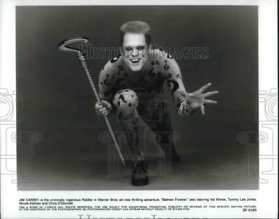 1995 Press Photo Jim Carrey as the Riddler in Batman Forever - orp06376
