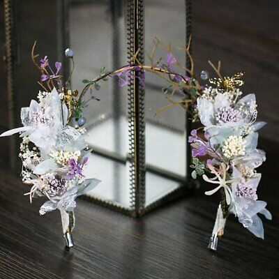 Handmade Hair Decoration Colorful Flower Headdress Bride Modeling Accessories XU