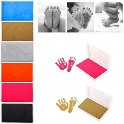 Baby Newborn Footprint Imprint Touch Ink Photo Handprint Safe Pad Pads Frame Kit