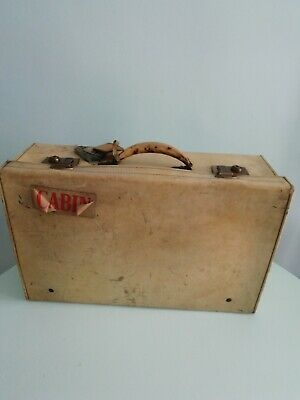 -VINTAGE PIG SKIN - case with orient line original labels still attached