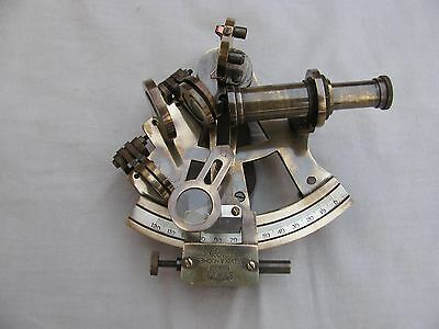 "Nautical Sextant~Antique vintage Sextant 4""~Navigation Wrking~Brass Marine-Antiq"