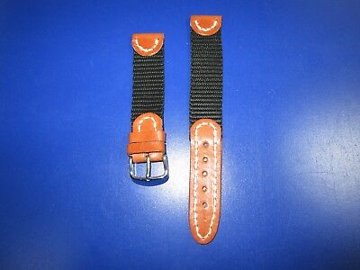20mm  Correa Reloj cuero-nylon Pulsera Leather Watch Band Strap