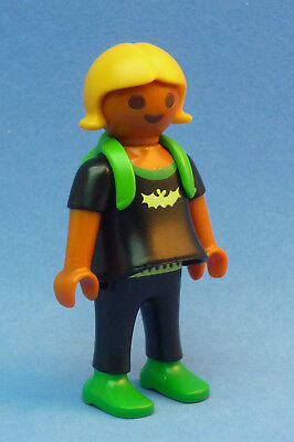 Playmobil FB-2 Child Figure Little Ethnic Girl Backpack School Dollhouse