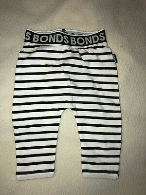 NEW BONDS Baby Black White Stripe Leggings Pants Legging GIRLS BOYS Cheap Post