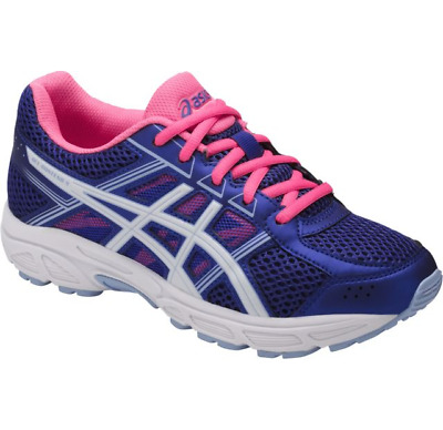 ASICS Girl's (GS) GEL-Contend 4 Blue Purple/White/Pk Running Shoes-3.5/5/5.5/6/7
