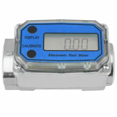 1'' Digital LED Turbine Gauge Diesel Kerosene Water Fuel Flow Meter Flowmeter