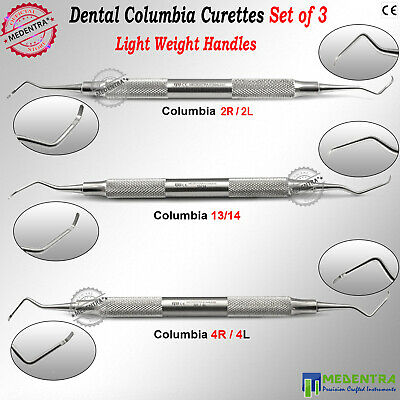 MEDENTRA® Columbia University Curettes Universal Curette 13/14, 4R/4L, 2R/2L Set