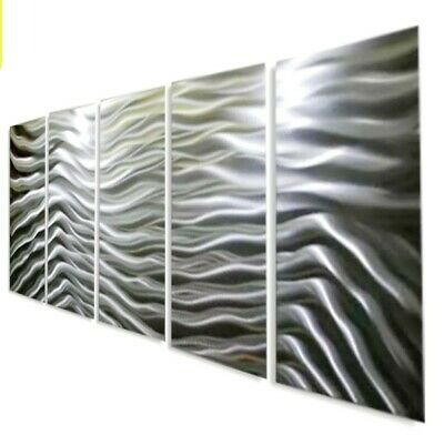 Statements2000 3D Metal Wall Art Panels Etched Silver Abstract Decor Jon Allen