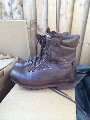 Altberg Defender Brown Leather Army Issue Boots