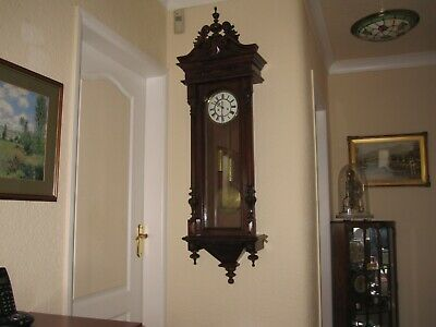 Antique German Twin Weight Vienna Wall Clock