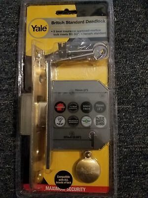 Yale Locks YALPM562PB25 PM562 MAXSecurity BS 5 Lever Mortice Deadlock 76mm 3in