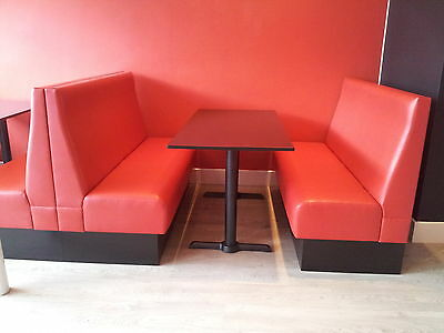 Bench/Booth/Fixed seating *Deluxe Plain Back Style* Commercial & Domestic
