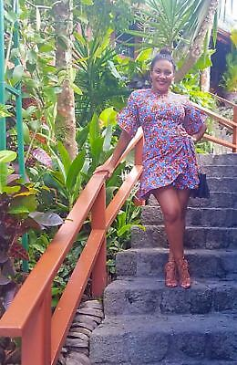African Print Party Dress