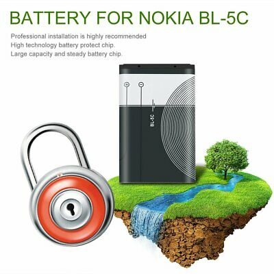 1020mAh CapaciCA BL-5C Phone Battery for Nokia 3.7V 3.8Wh Replacement BatteryCA