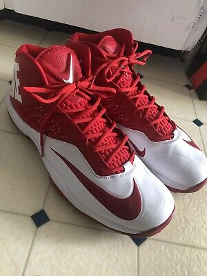39288f63ac8 NIKE ZOOM Code Elite Pro Shark Wide Red White Football Cleats Shoes NEW  SIZE 19