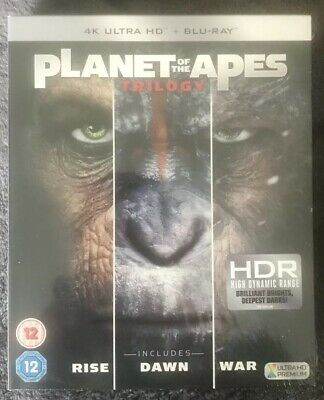 4K Ultra HD Blu Ray PLANET OF THE APES Trilogy DAWN RISE WAR Box Sealed