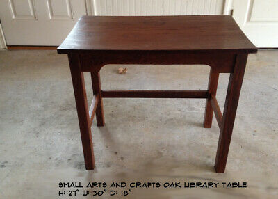 Small Oak Arts and Crafts - Mission Oak - Utility Table