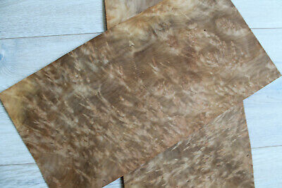 "Myrtle burl wood veneer, 2 sheets ~15.3 x 7.6"" (39 x 19.5 cm) 0.55 mm (~1/45″)"