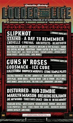 1 2 3 or 4 LOUDER THAN LIFE Festival 3-Day Tickets LOUISVILLE KY - LOCAL PICKUP