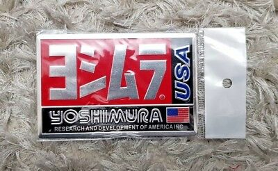 YOSHIMURA USA MOTORBIKE EXHAUST HEATPROOF DECAL/VINYL/STICKER (100mm x 64mm)