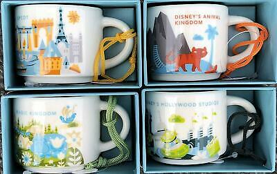 Disney Starbucks Animal Magic Kingdom Epcot Hollywood You Are Here ORNAMENT Set
