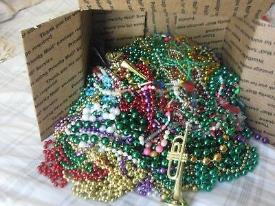 Mardi Gras Beads Necklaces lot Authentic New Orleans 9 pounds assorted