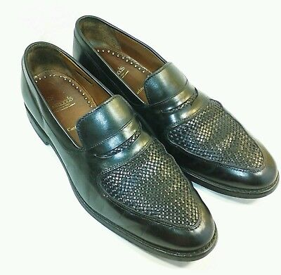 f5f387692b5 ALLEN EDMONDS Carlsbad Black Leather Woven Toe Loafer Dress Casual Shoes 9D   SM2