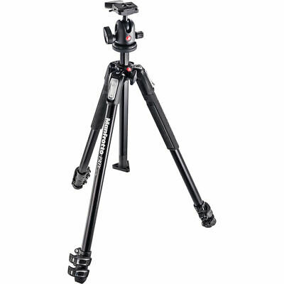 Manfrotto MK190X3-BH Aluminum Tripod with 496RC2 Compact Ball Head. No Fees! NEW